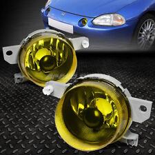 For 93-95 Honda Civic Del Sol Amber Lens Front Bumper Driving Fog Light Lamps (Fits: Honda)