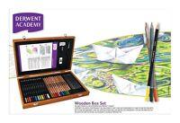 Derwent Academy Wooden Box Pencil Set Watercolour Sketching