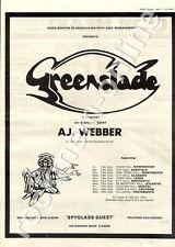 Greenslade Spyglass Guest AJ. Weber Town Hall, Leeds MM4 LP/Tour Advert 1974