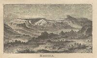 A0331 Magdala - Veduta - Stampa Antica del 1907 - Xilografia