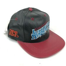 Vintage Colorado Avalanche Modern Brand Snapback Hat Script Spell Out Black Red
