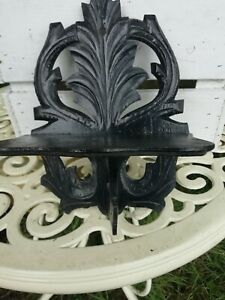 Antique Victorian Fret Work Wooden Folding Wall Sconce Candle Shelf Circa 1880