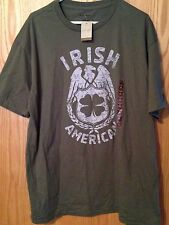 """Sonoma XL Olive """"Irish American"""" Tee New With Tags"""