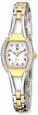 Charles Hubert Two-Tone Gold-finish White Dial Quartz Watch