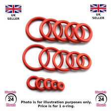 Alimentare SIGILLATO, Rosso in Silicone, Gomma O-Ring, varie dimensioni metriche. o-ring. (FGR2)