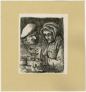 Antique Print-GENRE-MONEY-GOLD-WEIGHING-93-Deuchar-ca. 1780