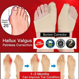 2pcs Big Toe Bunion Pad Fabric Gel Protect Hallux Valgus Corrector Straightener