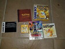 Pokemon Yellow Pikachu Nintendo Game Boy COMPLETE IN BOX CIB AUTHENTIC WORK