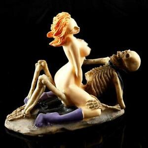 Woman Aquarium Decor Fish Tank Ornament Aquascape Resin Skeleton Creative B3S5