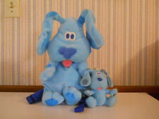 Blues Clues plush Backpack 1999 Viacom Toddlers Preschool & Key chain clip on