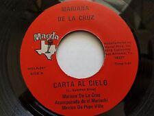 """MARIANA DE LA CRUZ - Carta al Cielo / Tierra y Mar 7"""" RARE MARIACHI Tex-Mex"""