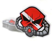 Skull Diver Down Mask Sticker Breathe Cup Laptop Phone Decal Scuba Dive 2.5 Mini
