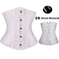 Sexy Brocade Overbust Boned Corset Leather Bustier Top Sexy Lingerie Plus Size