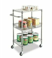 Vintage Alera - 3-Tier Rolling Wire Kitchen/Office Cart (FedEx Home Delivery)