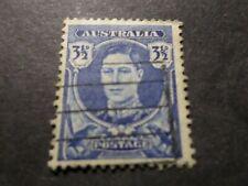 AUSTRALIE AUSTRALIA, timbre 134, ROI, oblitéré, VF used STAMP