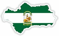 Sticker Silhouette Andalucia Country Spain Map Flag for Bumper Car
