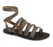 Free People Sunever Gladiator Leather Flat Sandals 1198 Size 37 EU
