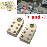 Pair Car Audio SAE Top Post (6) 1/0 & 4 Gauge Battery Terminal Fit For Car Truck