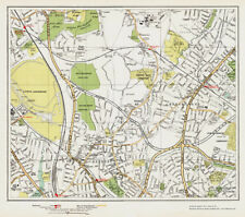 Mill Hill (S) Hendon Church End - old vintage  Map London 1932 #27-28