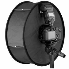 """Round Universal Collapsible Magnetic Ring Flash Diffuser Soft Box 45cm/18"""" for M"""