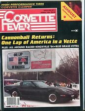 Corvette Fever Magazine August 1984 Cannonball Returns 071017nonjhe
