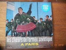 VYNILE 33 TOURS LES CHOEURS DE L' ARMÉE SOVIÉTIQUE A PARIS 1961