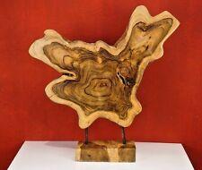 Racine tranche d'arbre Sculpture déco sculpture teck statuette statuette