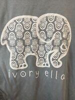 IVORY ELLA Women's Long Sleeve Shirt Size Small Gray White S