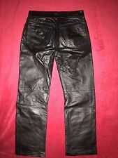 DIESEL Men's BLACK LEATHER PANTS size 30