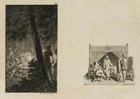 CHODOWIECKI (1726-1801). Gil Blas als Morgendiener & Überfall auf die Räuber 1