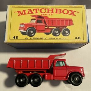 Matchbox Lesney 48 Dodge Dumper Truck Dump MINT with Crisp Box RARE VINTAGE