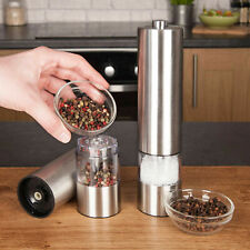 Electronic Stainless Steel Salt Pepper Mill Grinder Shaker with LED Light Mill