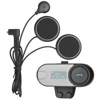 Motorrad Bluetooth Headset Helm Sprechanlage Gegensprechanlage Intercom FM 800m