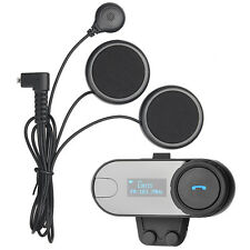 800M LCD Motorcycle Helmet Bluetooth Interphone Intercom Headset Flexible Wire
