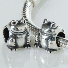 FROG ORIGINALE 925 Sterling Silver Charm Bead Fits European Bracciale