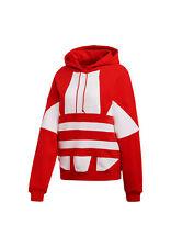 Adidas Originals Felpa da Donna con cappuccio Large Logo Rossa Taglia 38 (xs) Co