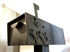 Custom Steel Rural Modern Mailbox Iron Metal Box Address House Industrial