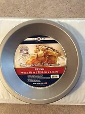 """NEW! NWT USA 9"""" PIE Pan Commercial Bakeware Aluminized Steel Non-Stick Silcone"""