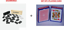 Dominoes + Pair of 2 Playing Cards Set-Traditional Game-Adult/Kids/Family