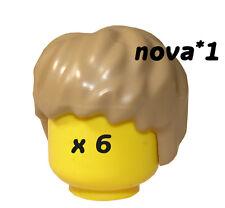 LEGO STAR WARS  ANAKIN  SKYWALKER  HAIR  X  6 NEW