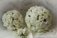 WEDDING FLOWERS BRIDES SET IN IVORY