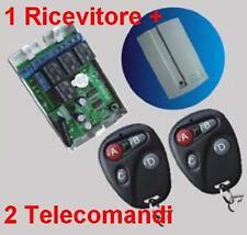 Ricevitore radio 4 Rele + 2 Trasmettitori E 433MHz telecomando cancelli serrande