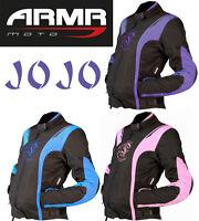 ARMR MOTO JOJO Mujer Textil Protectora Impermeable Chaqueta de la motocicleta