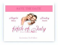 50 Personalized Custom Photo Wedding Bridal Save The Date Cards