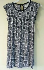 New With Tags Crown & Ivy Navy Floral Dress Size Small / 7
