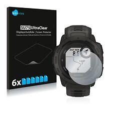 6x Garmin Instinct Tactical Edition Displayschutzfolie Klar Transparent