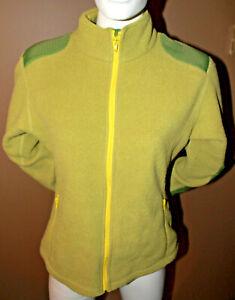 LULULEMON Green Womens Fleece Polyester Jacket Size Medium Pockets on Forearm
