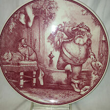 "WEDGWOOD WILLIAMS SONOMA MAYFAIR FATHER CHRISTMAS DESSERT PLATE 8 3/4"" 2002"