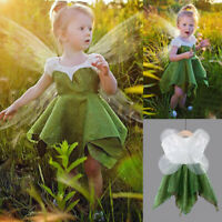 Toddler Kids Baby Girl Casual Party Lace Sequins Short Sleeve Tulle Dress Wings