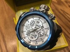 21681 Invicta 52mm Russian Diver Quartz Chronograph Black Silicone Strap Watch